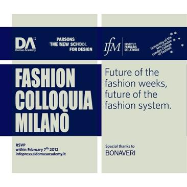 Domus Academy presenta i Fashion Colloquia