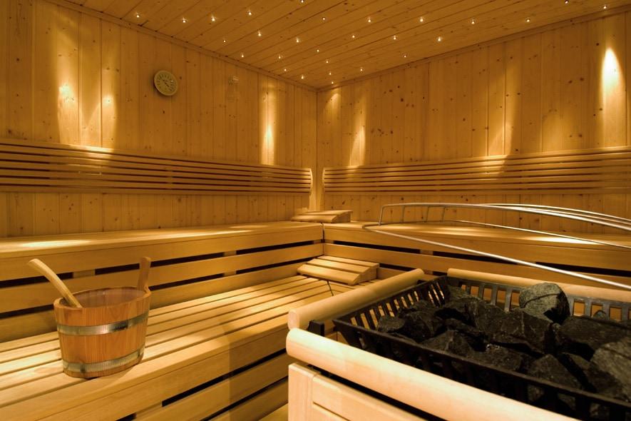 La sauna della Beauty SPA Vives