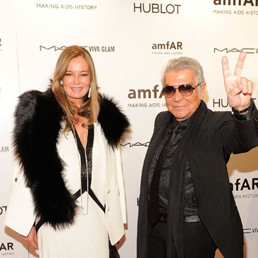 Roberto Cavalli  premiato da Amfar