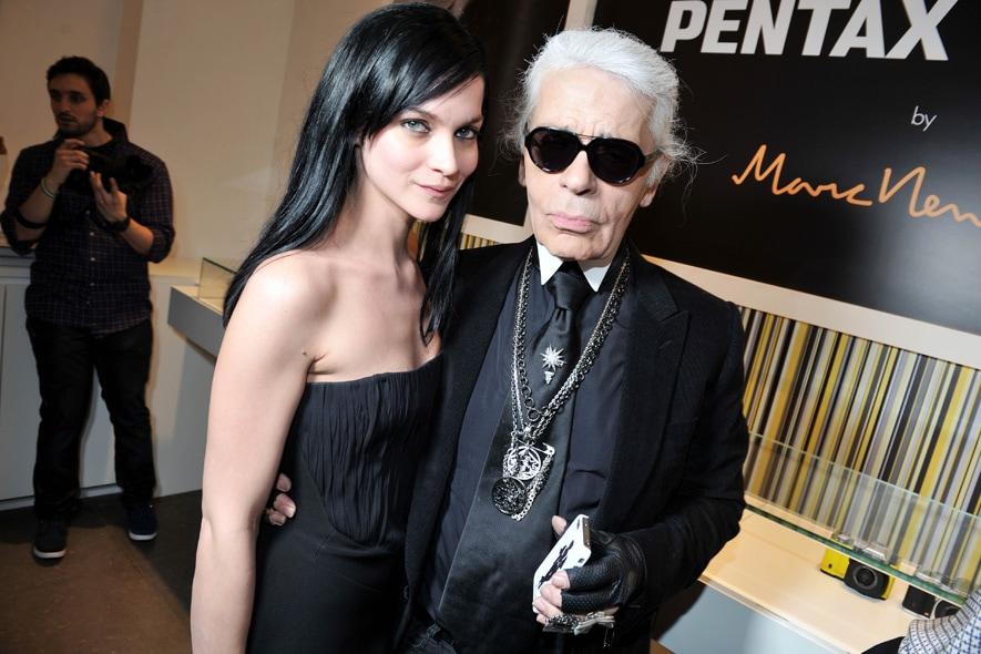 Leigh Lezark & Karl Lagerfeld