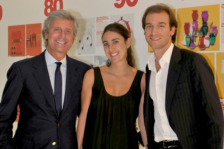 Lorenza Luti con il padre Claudio e il fratello Federico