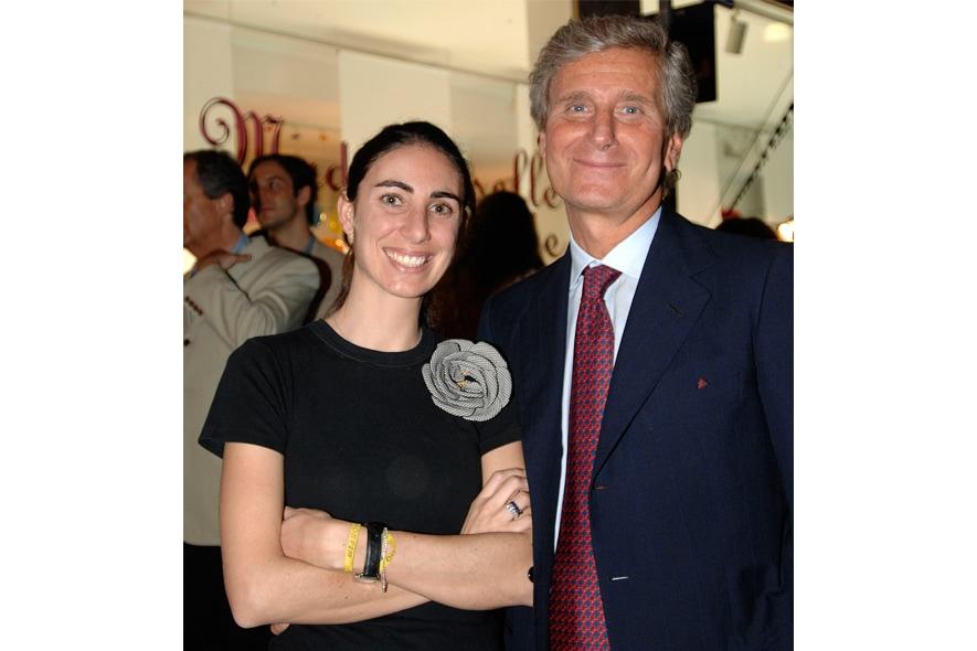 Lorenza e il padre Claudio Luti