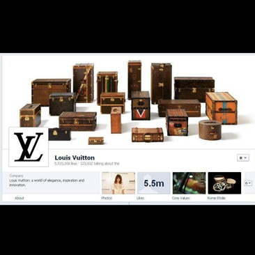 Louis Vuitton rinnova la pagina Facebook