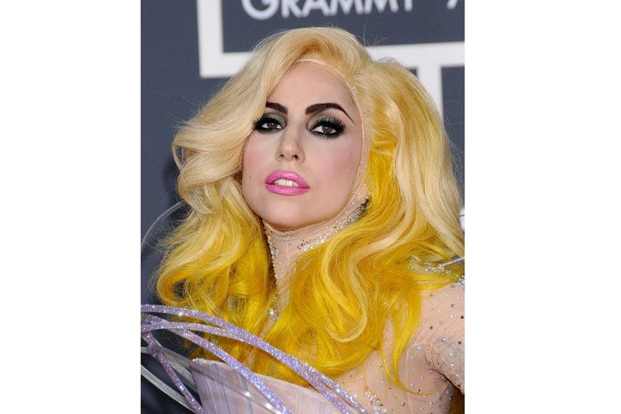 Sempre eccentrico il make up di Lady Gaga