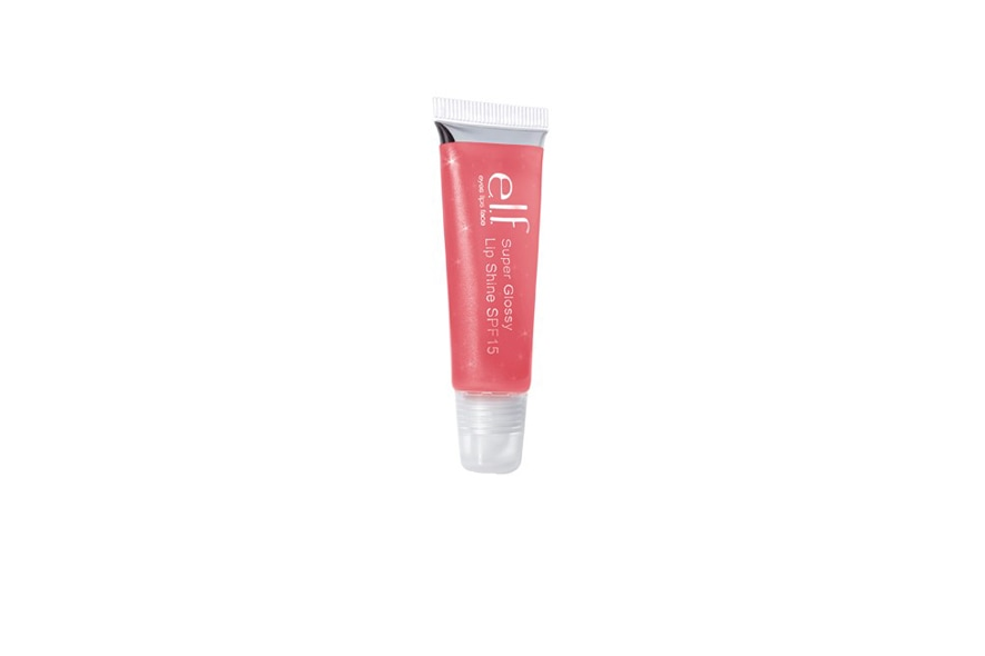 elf super glossy lip shine spf 15 pink pop