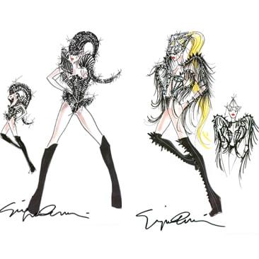 Armani veste il tour di Lady Gaga