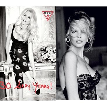 Guess e Claudia Schiffer festeggiano il 30° compleanno