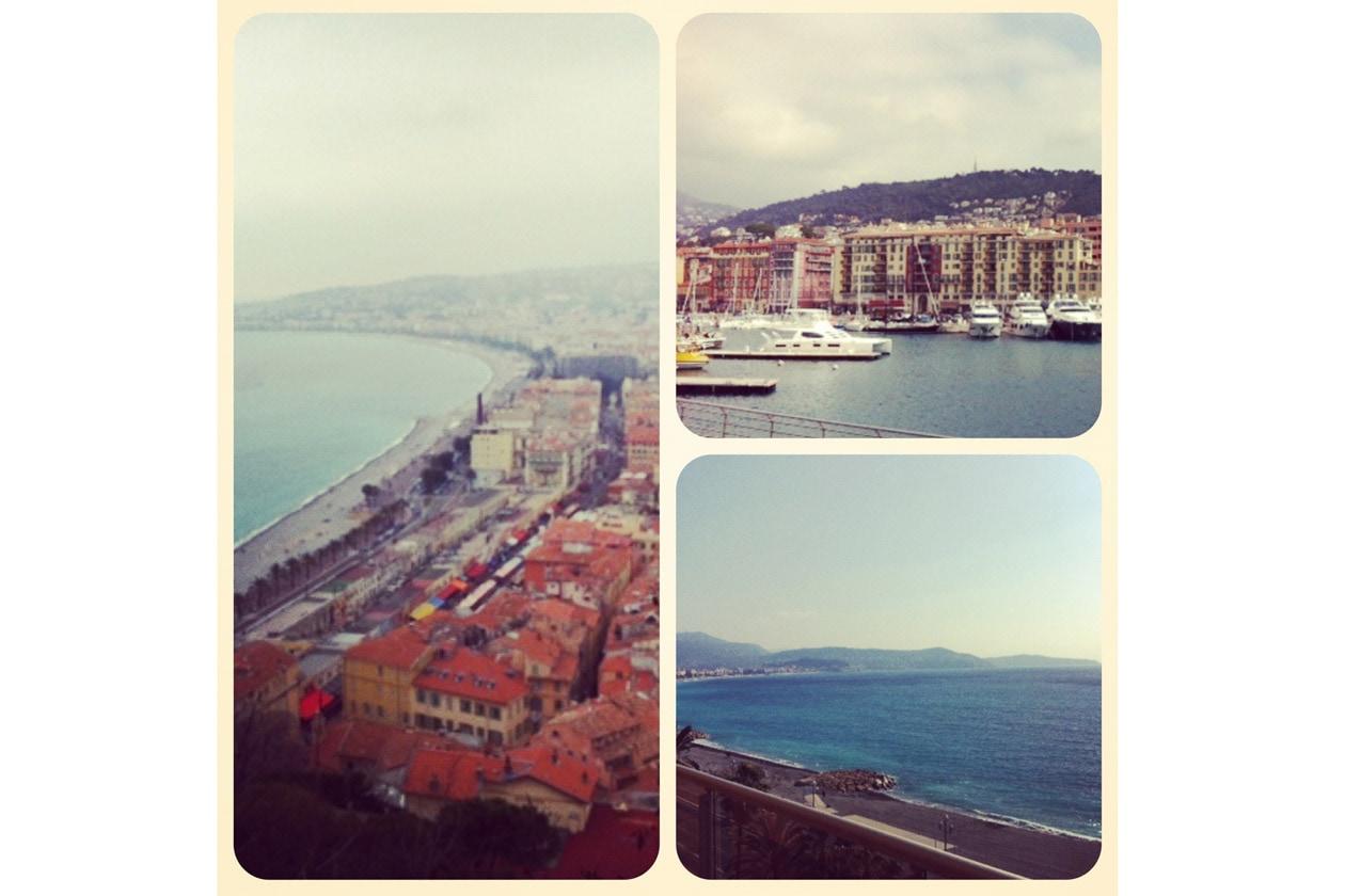 Panorama di Nizza dal castello e dal porto