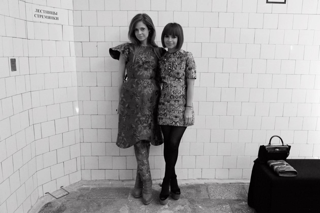 Stephanie La Cava and Miroslava Duma at the Alexander Terekhov show