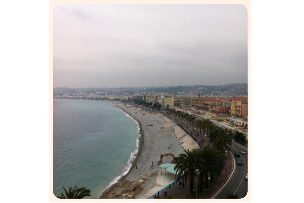 Vista della città dal castello di Nizza