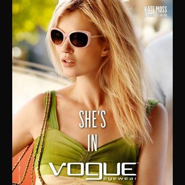 Vogue Eyewear fa il bis con Kate Moss