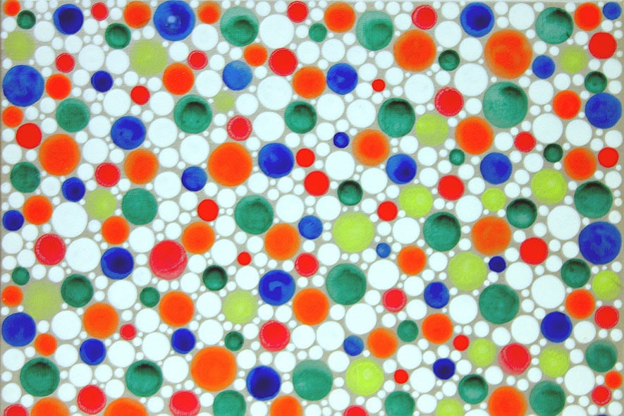 YAYOI KUSAMA,Dots Obsession Oweng,2004,cm38x45,5, Courtesy Studio Guenzani