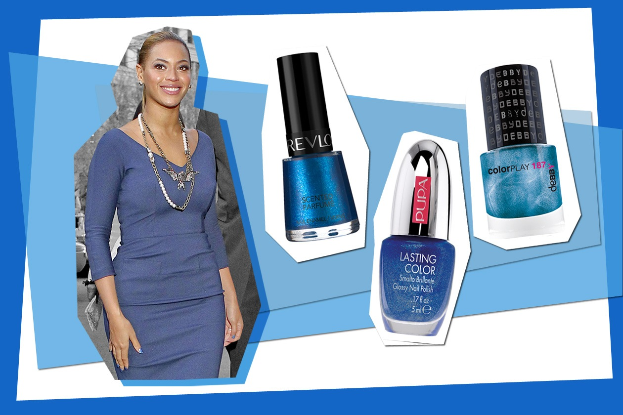 Il blu denim scelto da Beyoncé è una delle nuance più trendy (Revlon – Pupa – Debby)