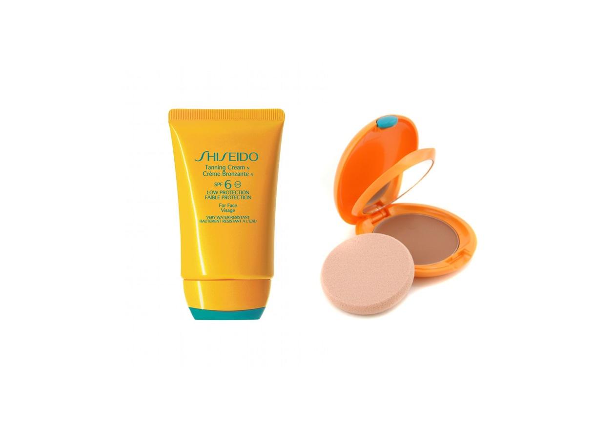 La crema abbronzante per il viso di Shiseido è indicata per le pelli già abbronzate. In alternativa, si può usare il fondotinta abbronzante compatto