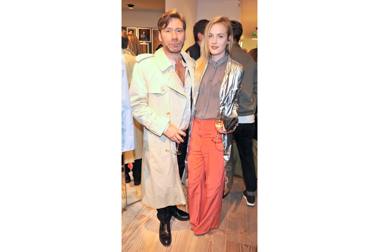 Matt Collishaw and Polly Morgan wearing ACNE