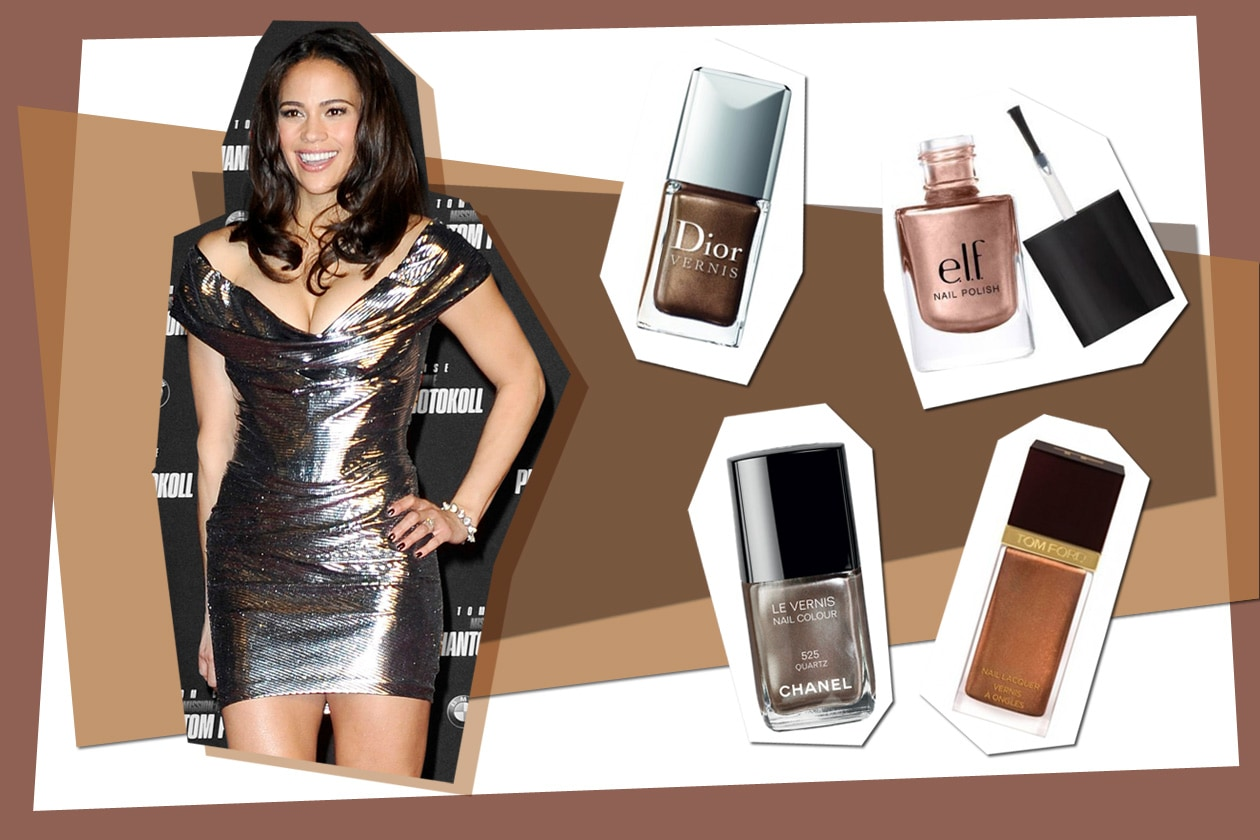 Paula Patton sceglie un bronzo intenso (Dior – Chanel – Tom Ford – Elf)