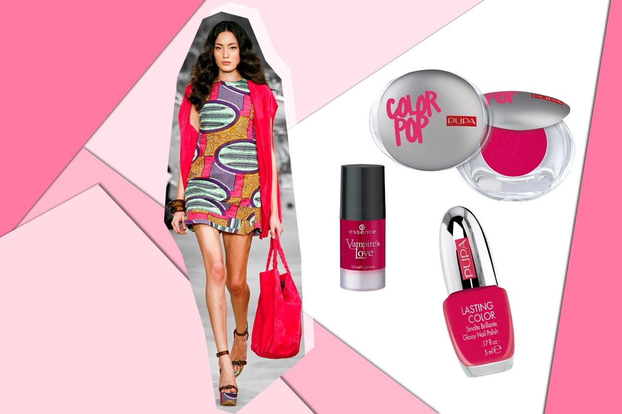 Sempre molto trendy abbinare lo smalto al colore della borsa come fa Simonetta Ravizza (Pupa – Essence)