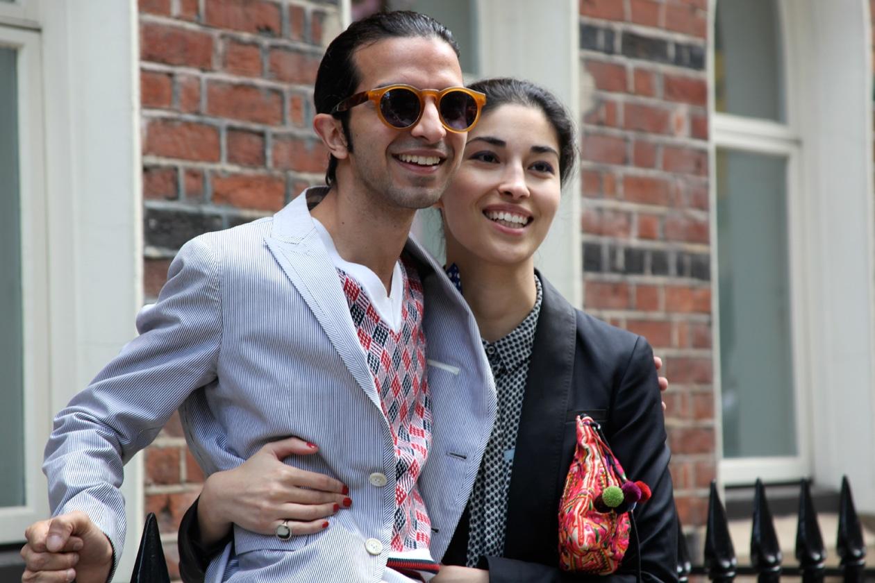 Caroline Issa e Imran Amed dopo uno show
