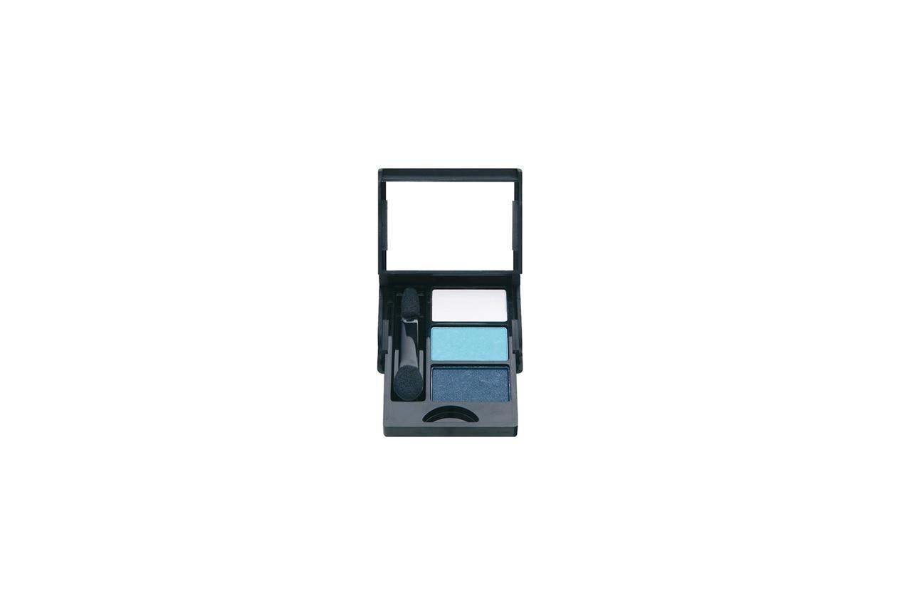 Da sfumare per dare profondità allo sguardo le tre polveri della palette Eye Shadow Trio della collezione Capri di Nee