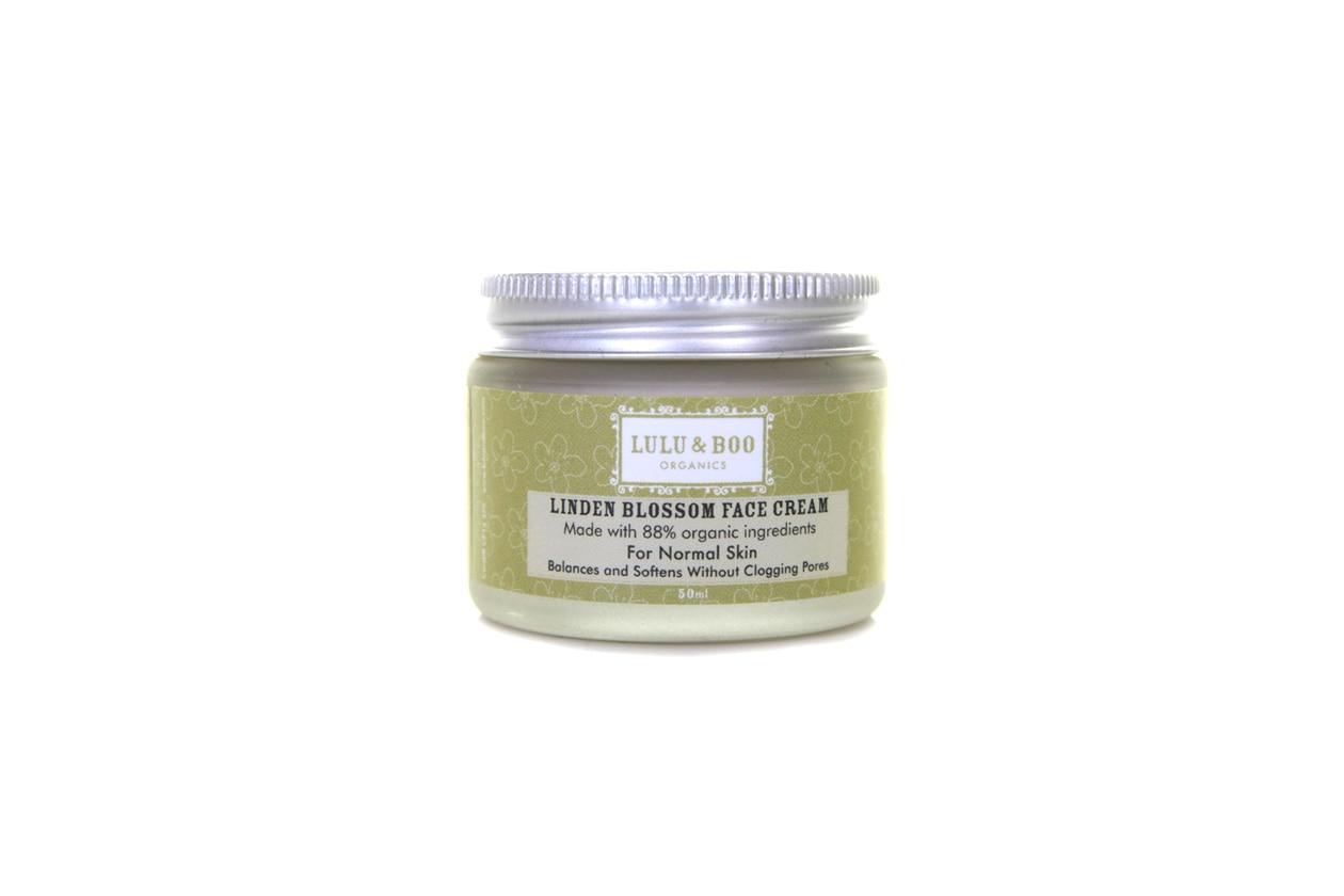 È 100% naturale la Linden Blossom Face cream del brand Lulu & Boo Organics