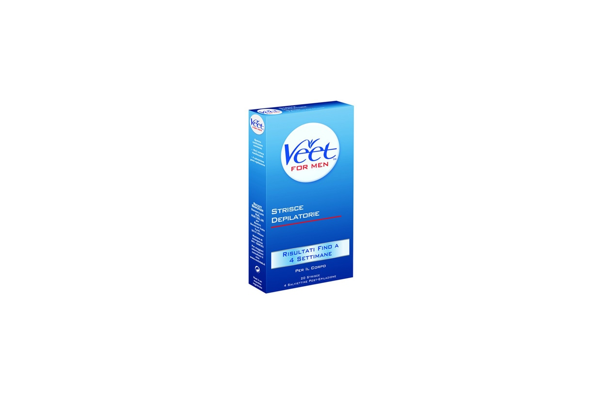 Facili da utilizzare anche le strisce depilatorie di Veet