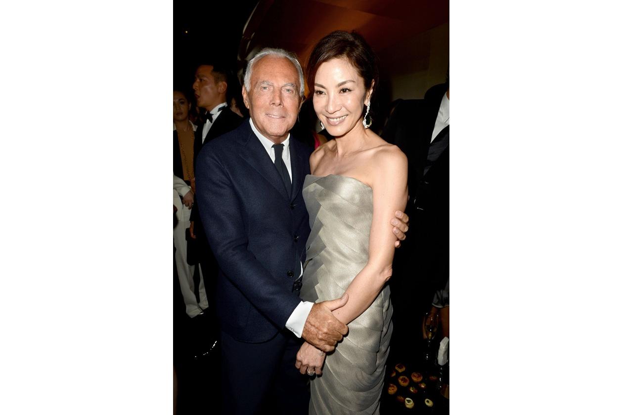 Giorgio Armani and Michelle Yeoh
