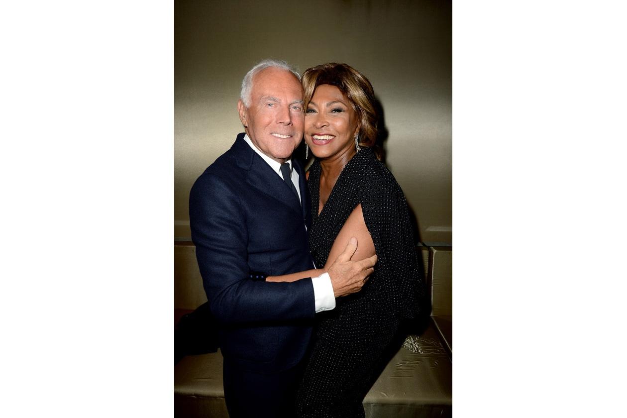 Giorgio Armani and Tina Turner