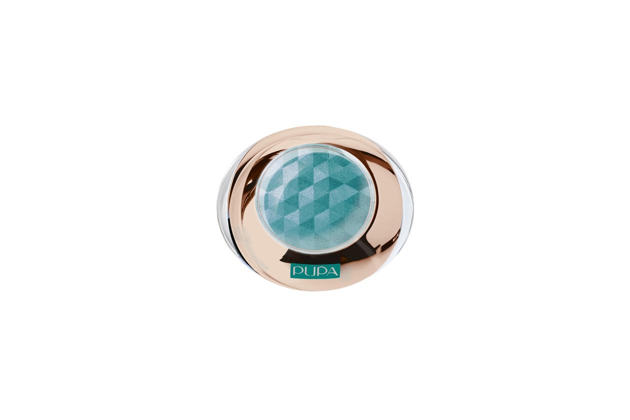 L'ombretto Hot Tropics Diamond di Pupa ha una texture morbida e cremosa