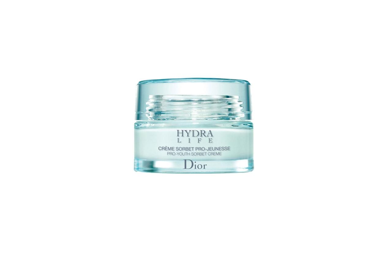 La Hydra Life creme sorbet Pro-Jeunesse di Dior è indicata per pelli che richiedono una sferzata di idratazione e freschezza