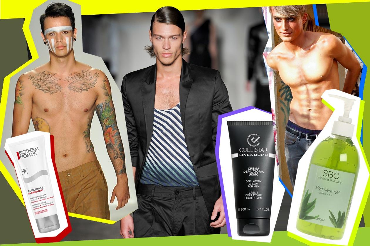 La depilazione maschile non è più un tabu e tra creme e cerette la scelta è davvero vasta