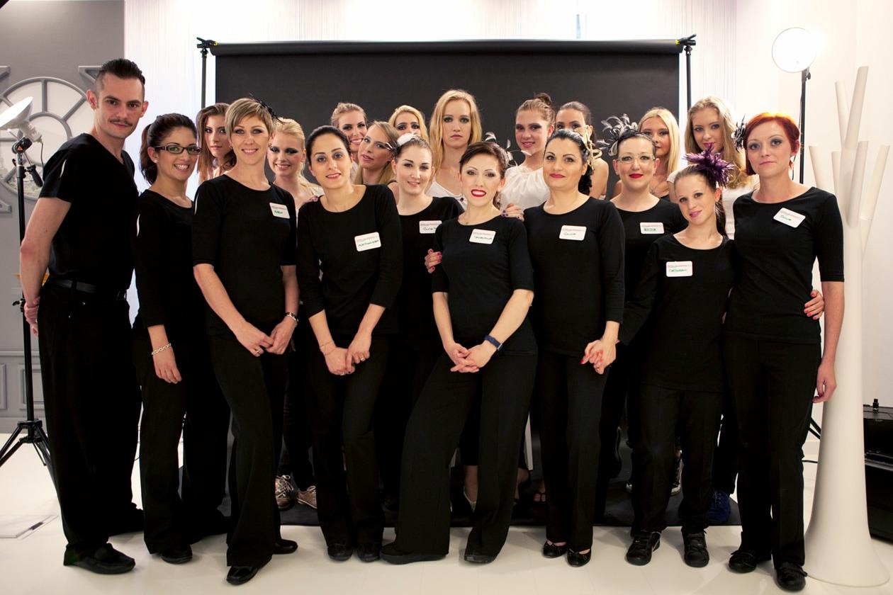 La squadra della terza sfida dei Make Up Masters di Sephora 2012 by Lancôme al completo