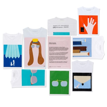 "Prada: le nuove t-shirt in limited edition ""Parallel Universes"""