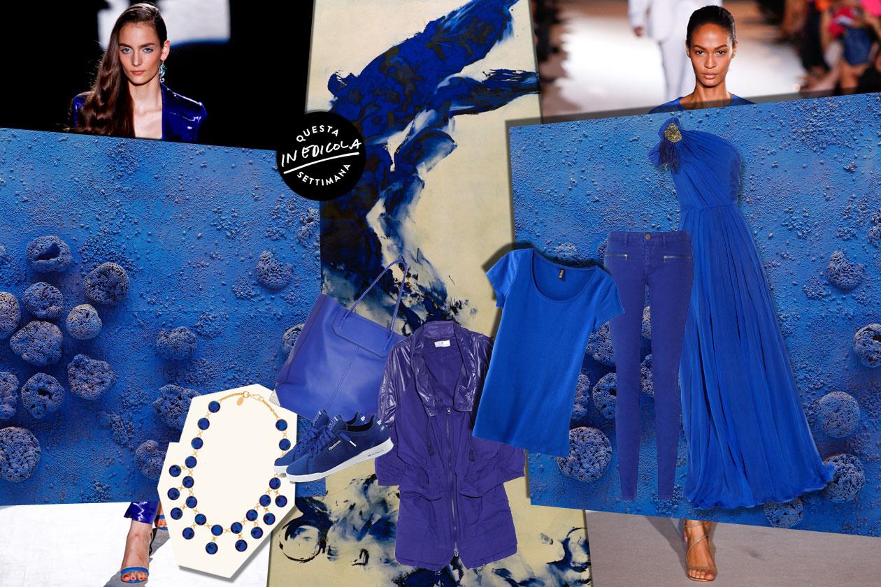 Un total look blu Klein