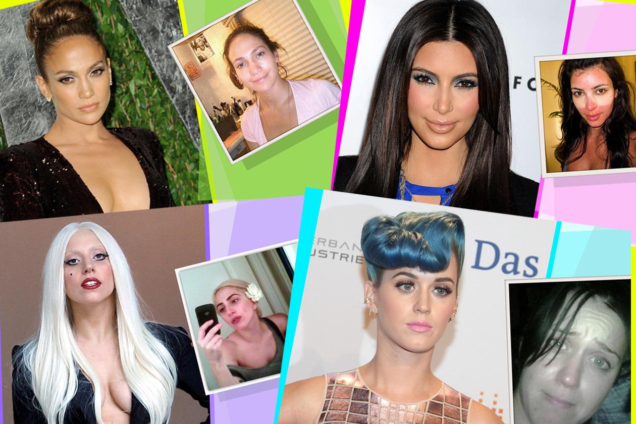 Star senza trucco: prima e dopo il make up