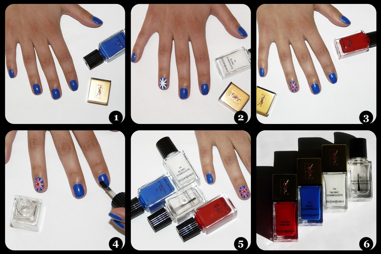 union jack nail art tutorial