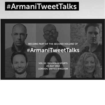 Armani Tweet Talks atto secondo