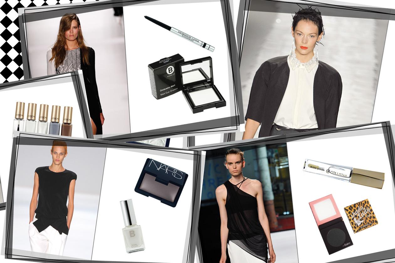 Dalle passerelle p/e 2012 al beauty case: il binomio black&white è un evergreen