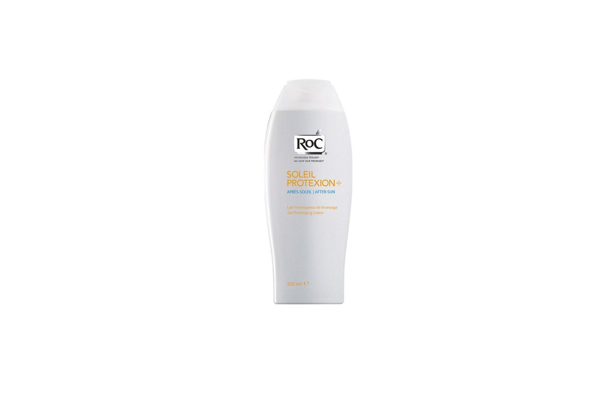 Il latte doposole Prolungatore Abbronzatura di Roc Soleil Protexion non unge e dona un'immediata sensazione di sollievo alla pelle accaldata