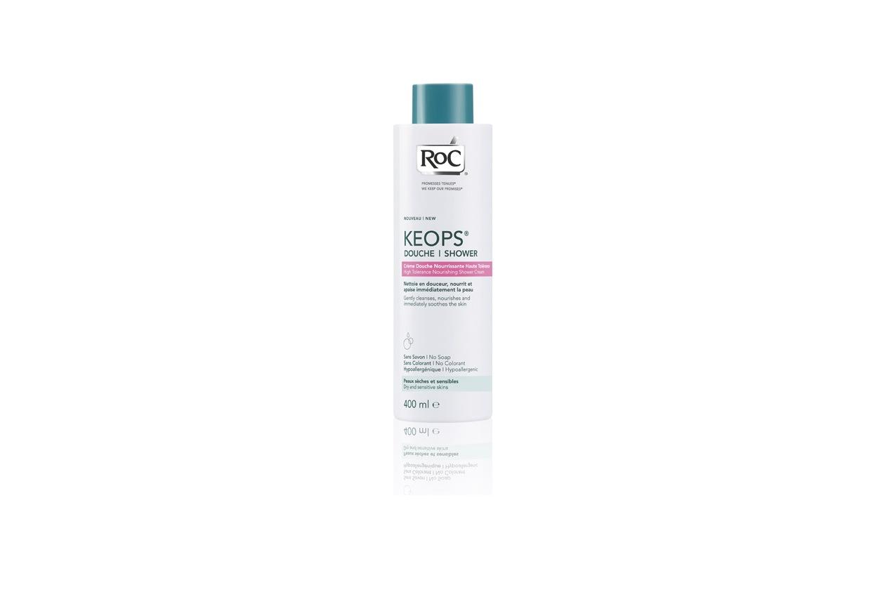 Ipoallergenico e formulato per minimizzare i rischi di allergie anche il Gel doccia idratante Keops di Roc