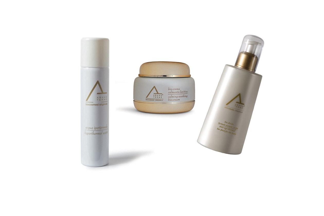 L'acqua termale Abano Terme di Aponus Cosmetics e con le creme corpo e viso protegge dai danni dei raggi ultravioletti e dall'inquinamento