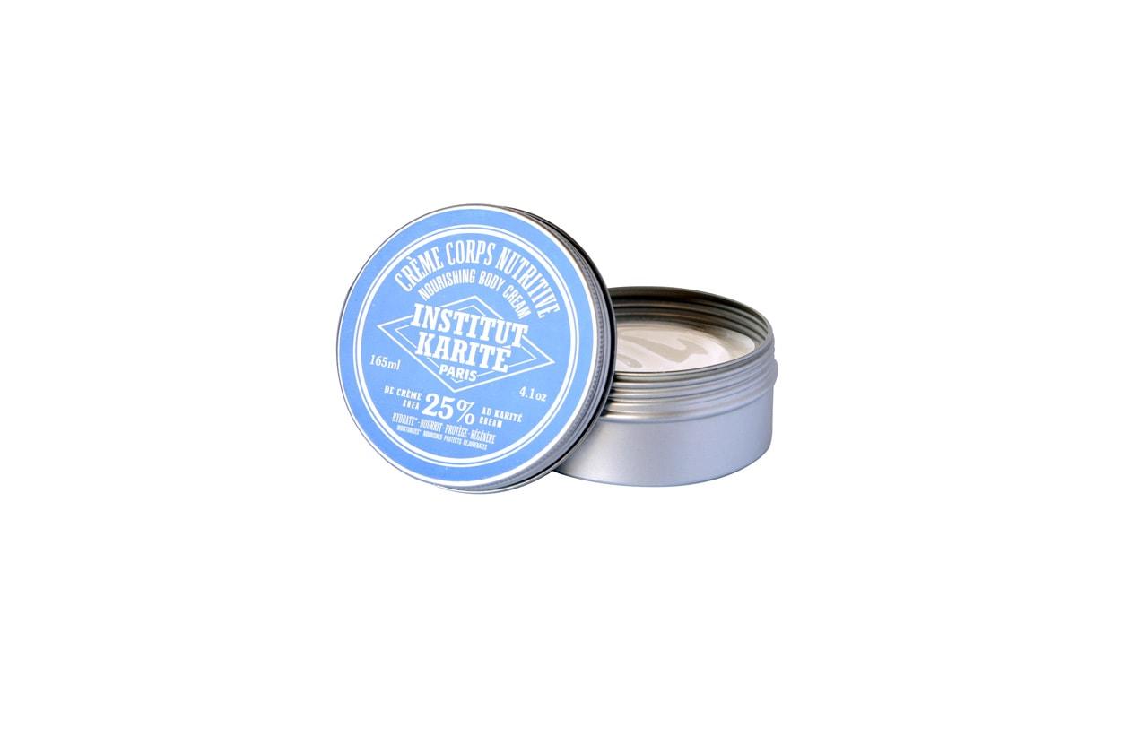La crema corpo nutriente di Institute Karitè ha una consistenza molto soffice grazie alla presenza di burro di karité