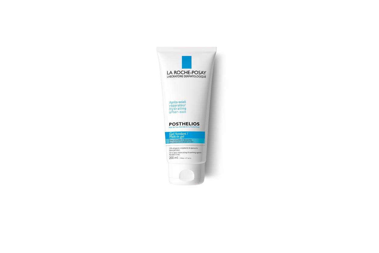 Posthelios è un gel facile da applicare; arricchito in agenti relipidanti, favorisce la riparazione cutanea (La Roche Posay)
