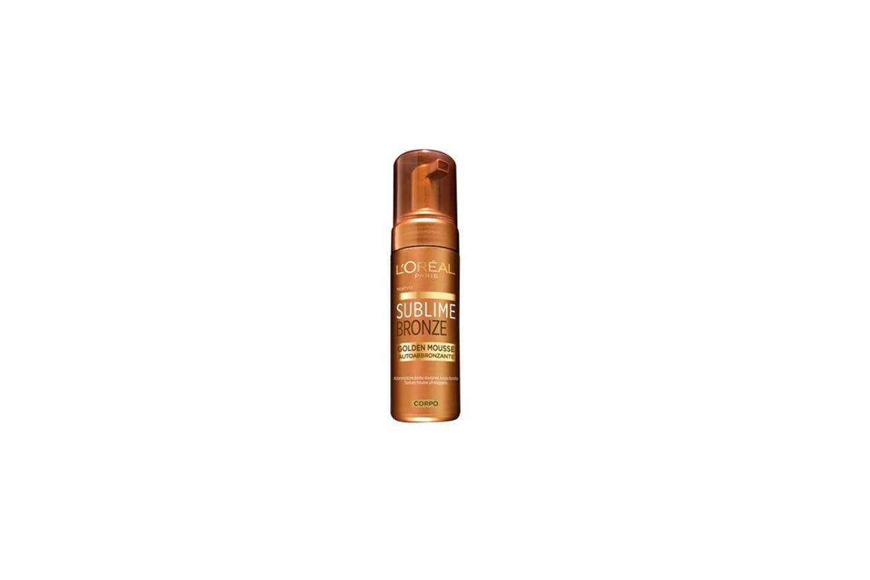 Sublime Bronze Golden Mousse di L'Oréal Paris è arricchita in Vitamina E, attivo anti-ossidante
