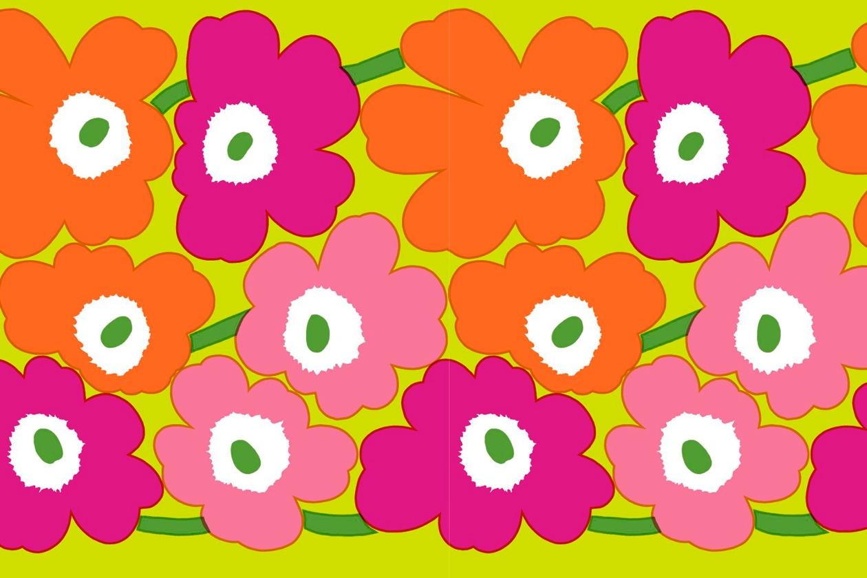 Tessuto Unikko disegnato da Marimekko