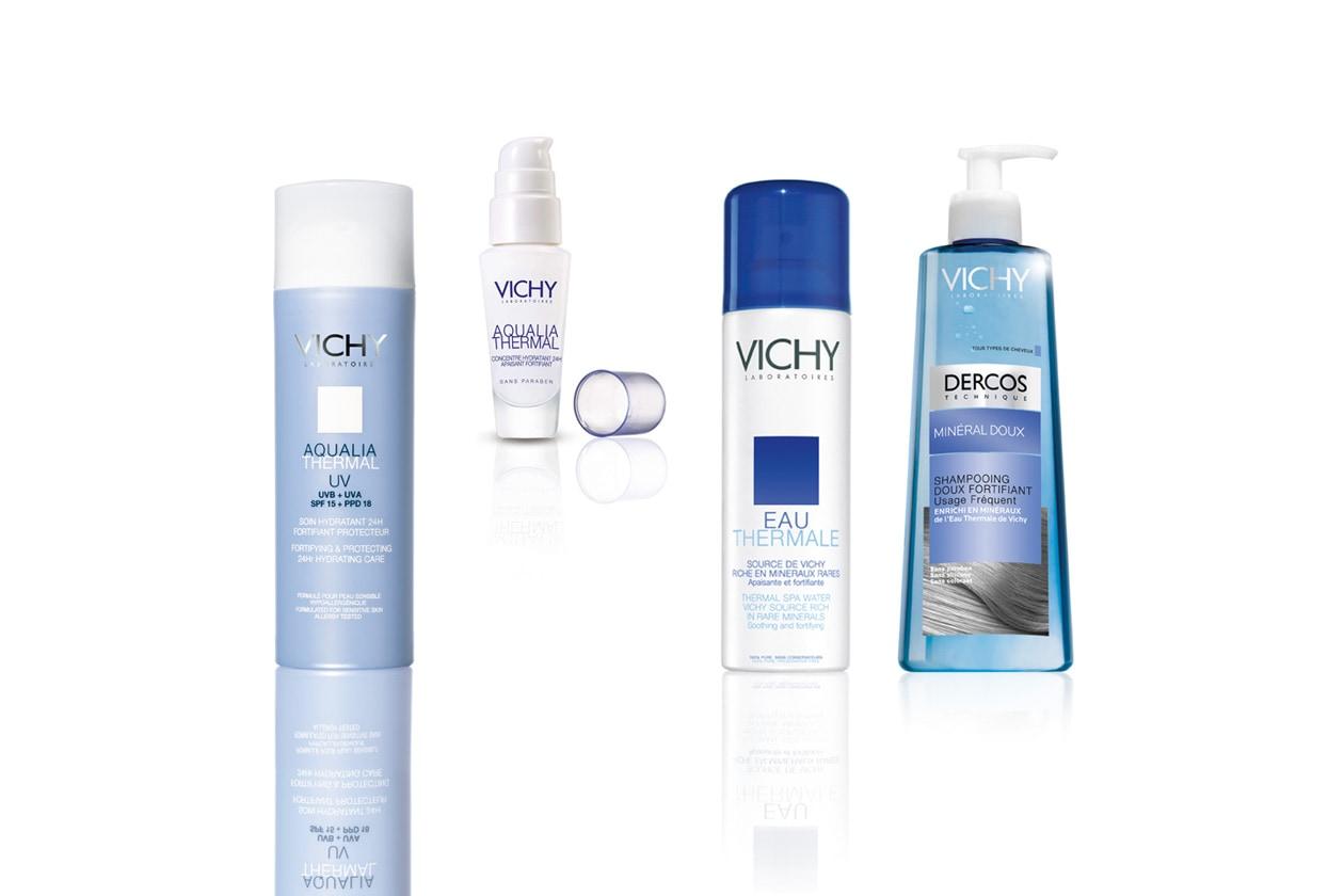 Un'acqua, un siero da usare dopo la crema con fattore di protezione e uno shampoo dolce sono le proposte di Vichy