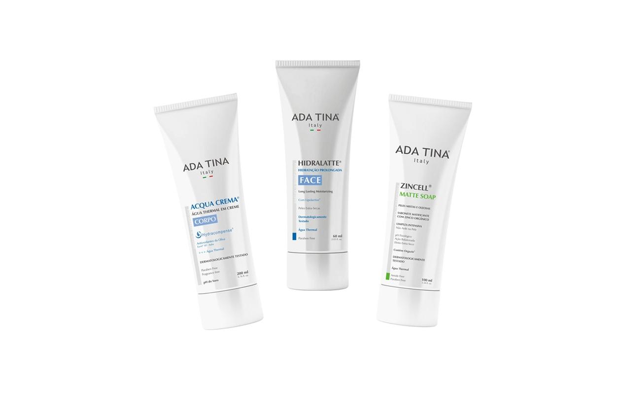 Una crema per il corpo e due per il viso: una nutriente, l'altra opacizzante (ADA TINA)