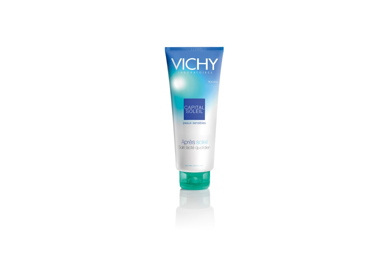 Vichy Capital Soleil Latte Doposole si presenta come un gel-latte idratante fresco