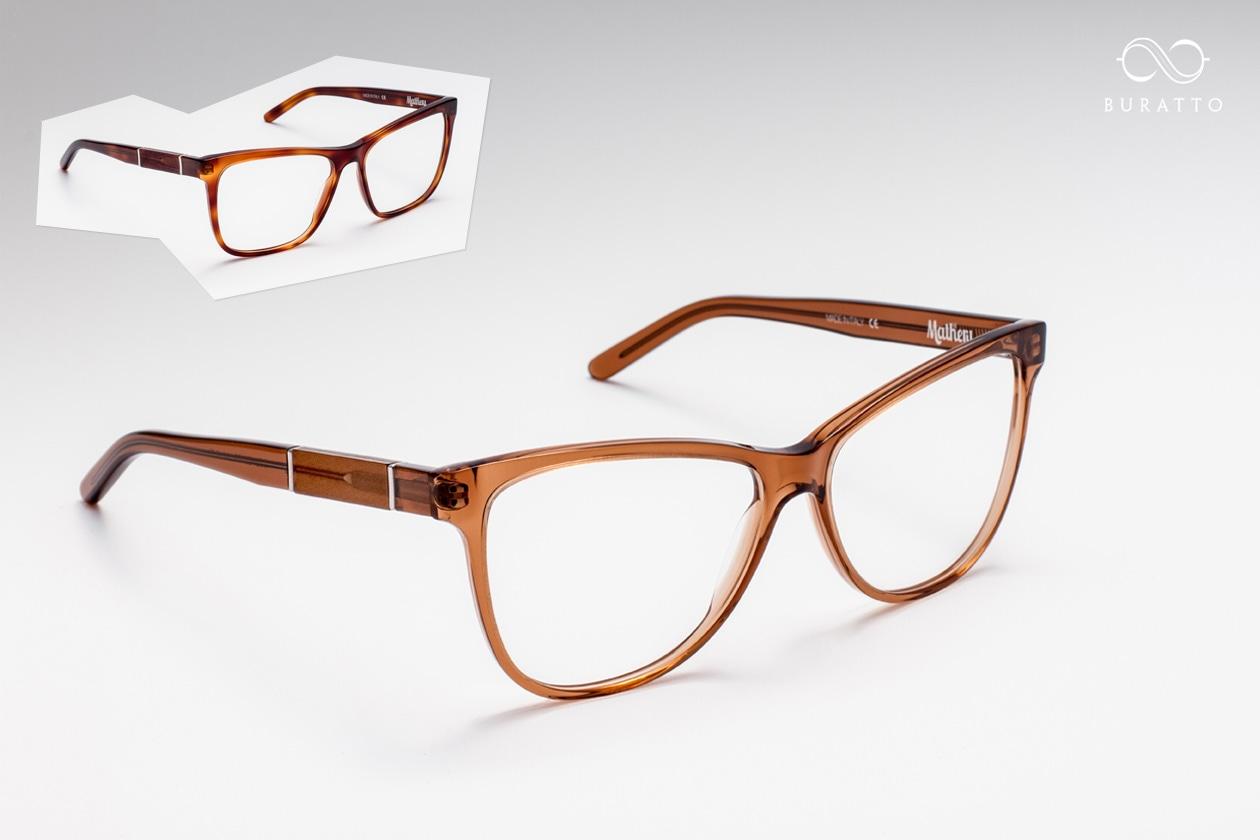 Buratto occhiali da vista marroni acetato