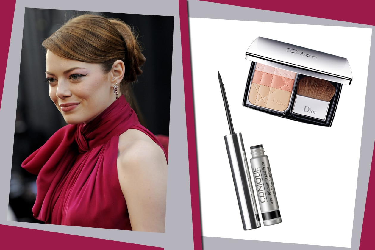 emma stone dior clinique