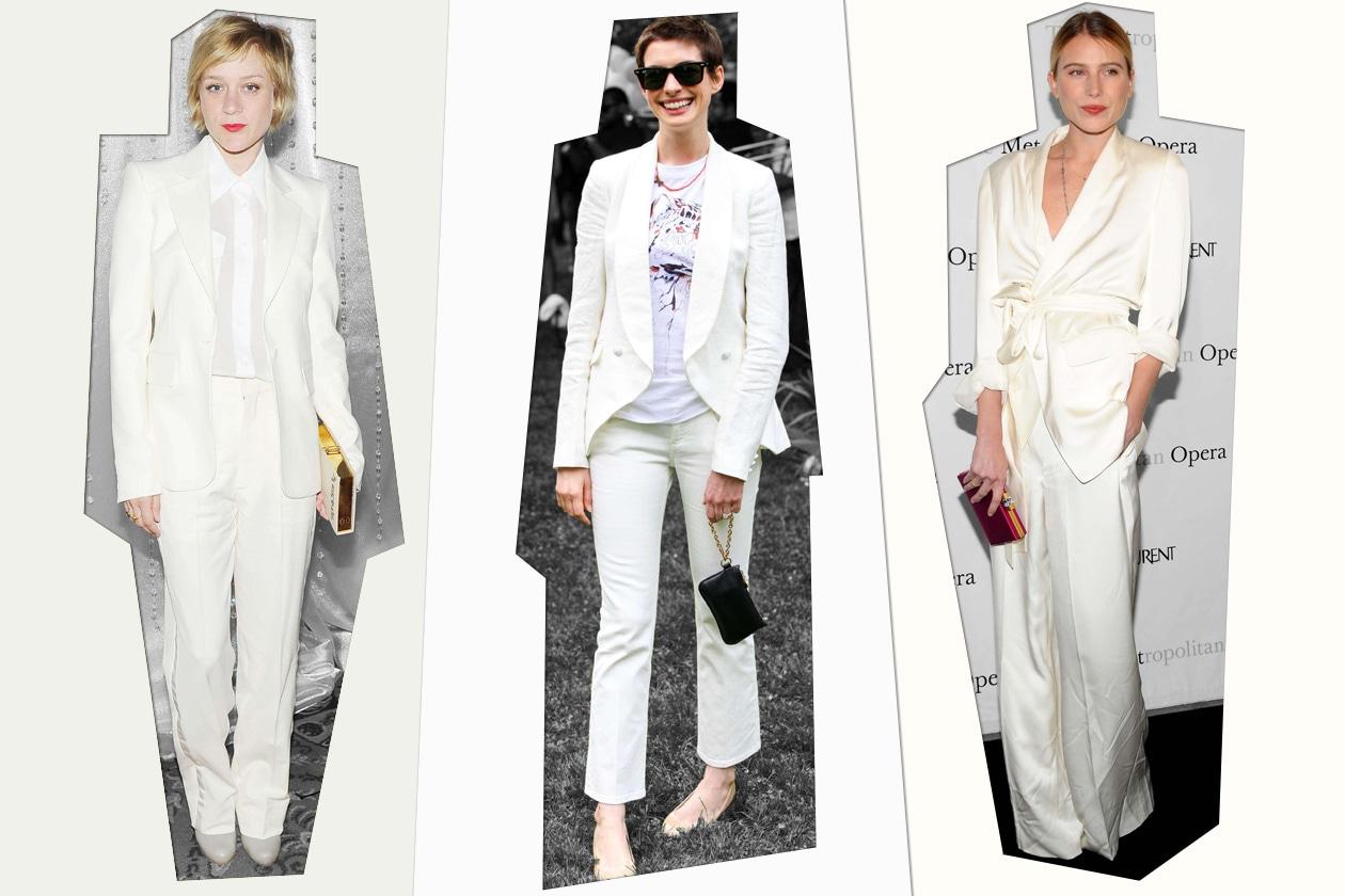 Star vestite di bianco